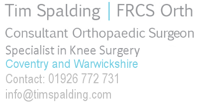 Coventry and Warwickshire knee surgeon specialist