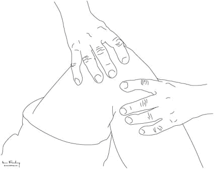 Lateral joint line tenderness is felt in the mid lateral part of the joint, also by deep firm palpation
